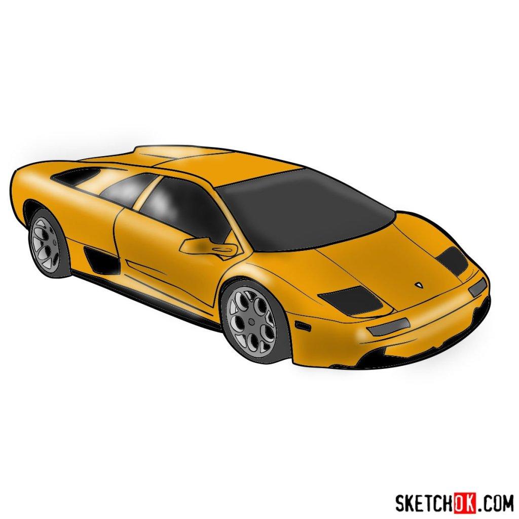 How to draw Lamborghini Diablo