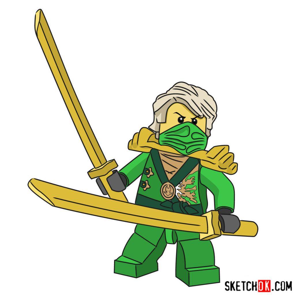 How to draw Lloyd Garmadon from NinjaGO