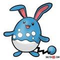How to draw Azumarill | Pokemon