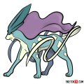 How to draw Suicune | Pokemon