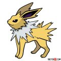 How to draw Jolteon Pokemon