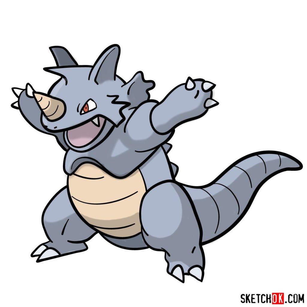 How to draw Rhydon Pokemon