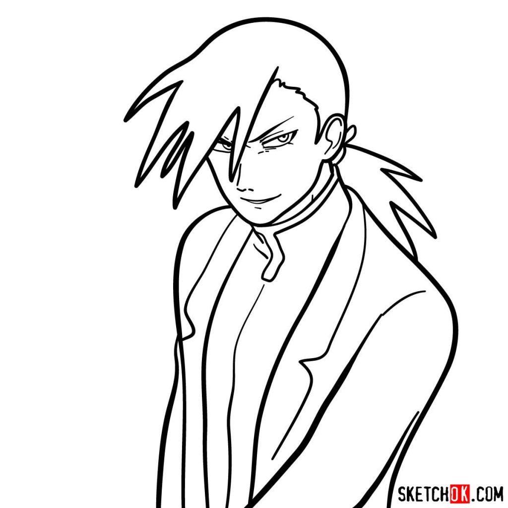 How to draw Greed from Fullmetal Alchemist
