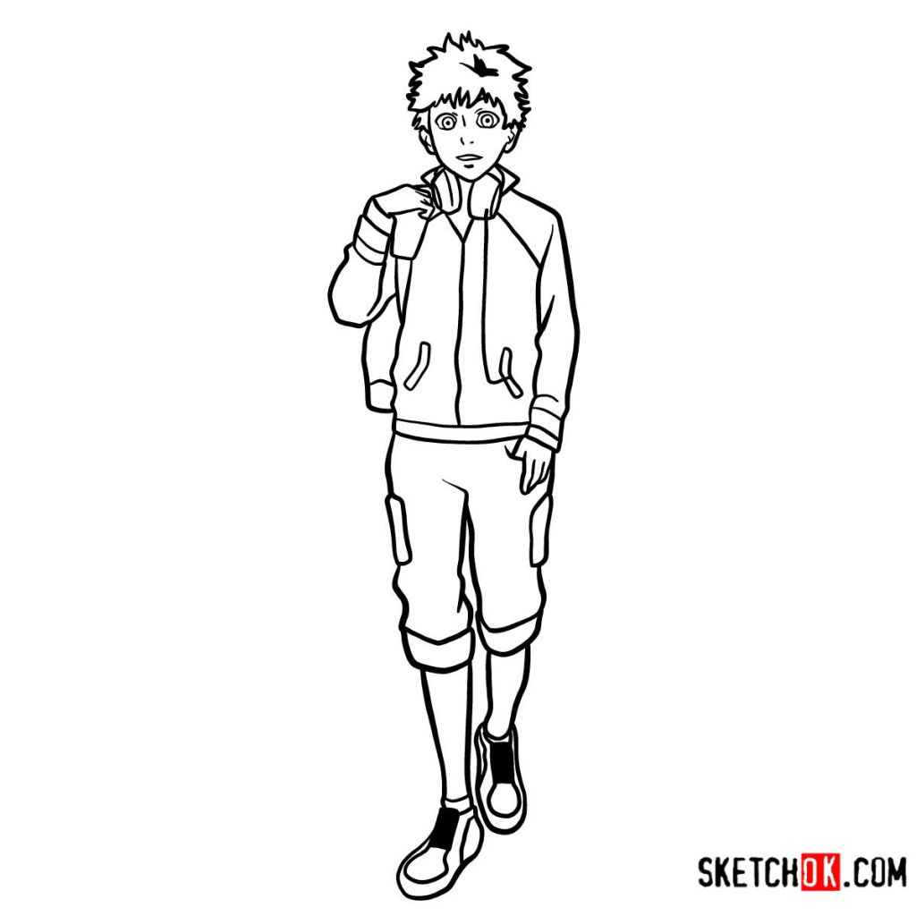 How to draw Hide Nagachika full growth