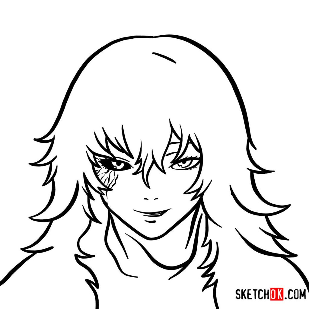 How to draw Eto Yoshimura's face | Tokyo Ghoul
