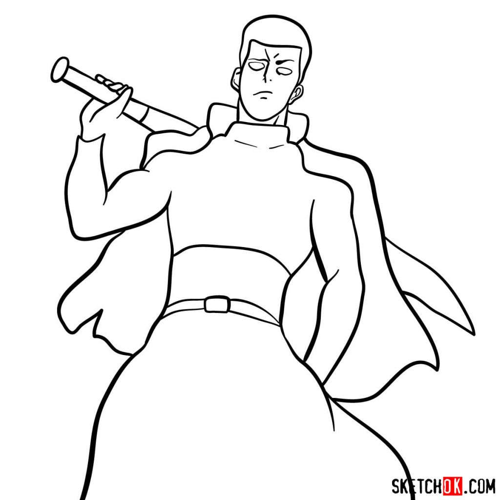 How to draw Metal Bat (Bad) | One-Punch Man