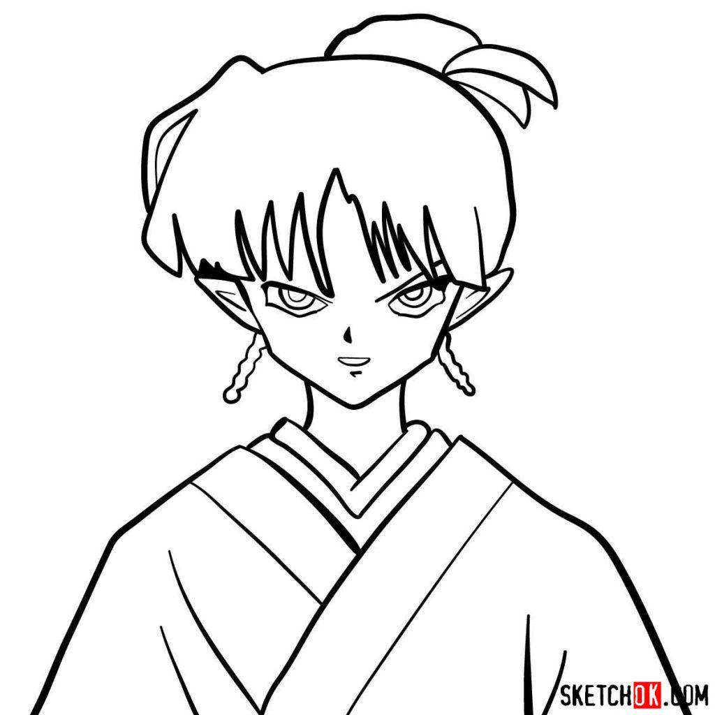 How to draw Kagura | Inuyasha