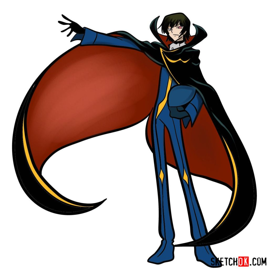 How to draw Lelouch Lamperouge | Code Geass anime