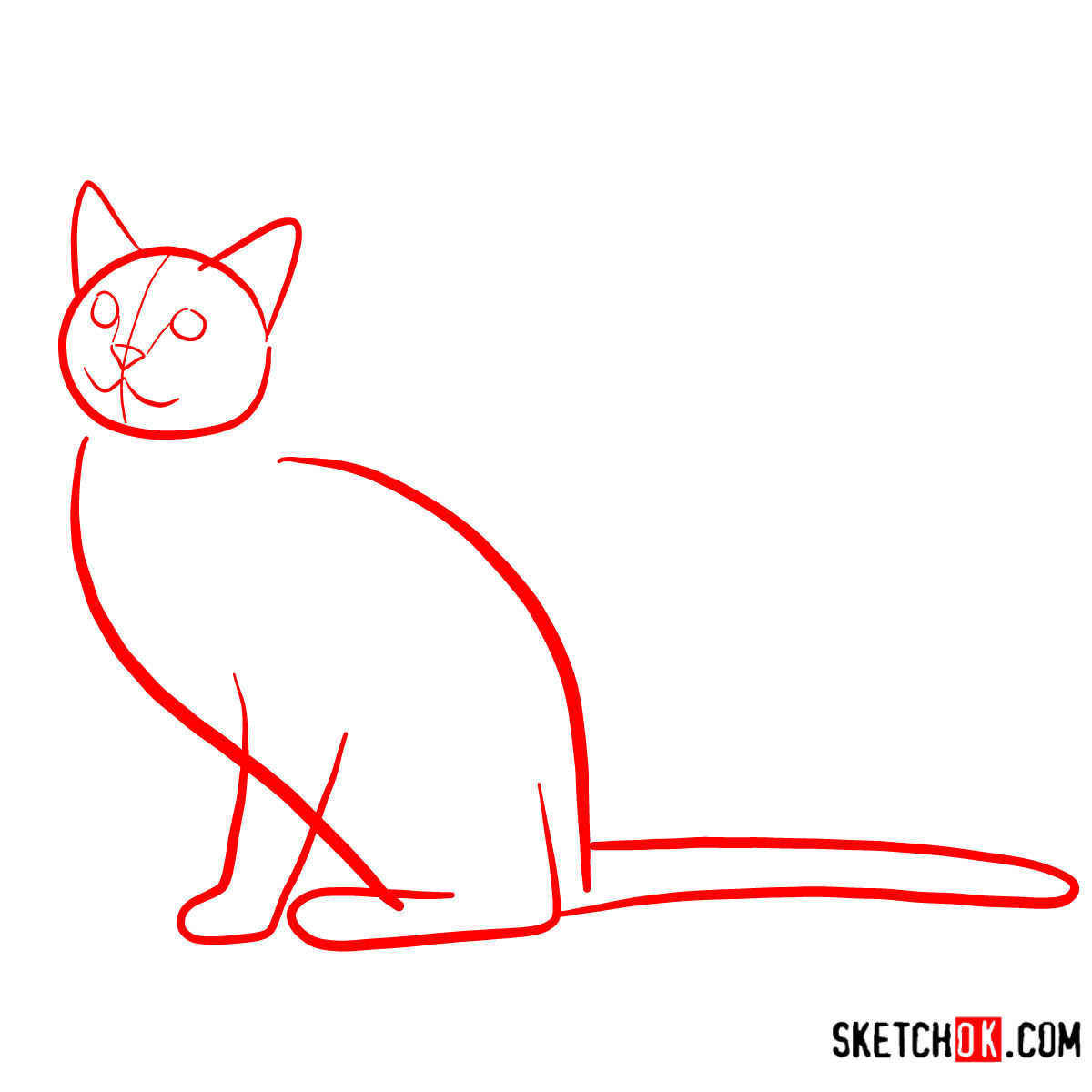 How To Draw The Russian Blue Cat Sketchok Step By Step Drawing Tutorials