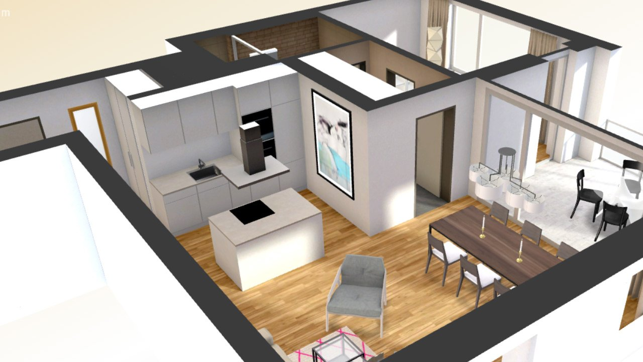 3D Interactive Floor Plan Add On With Virtual Furnishing