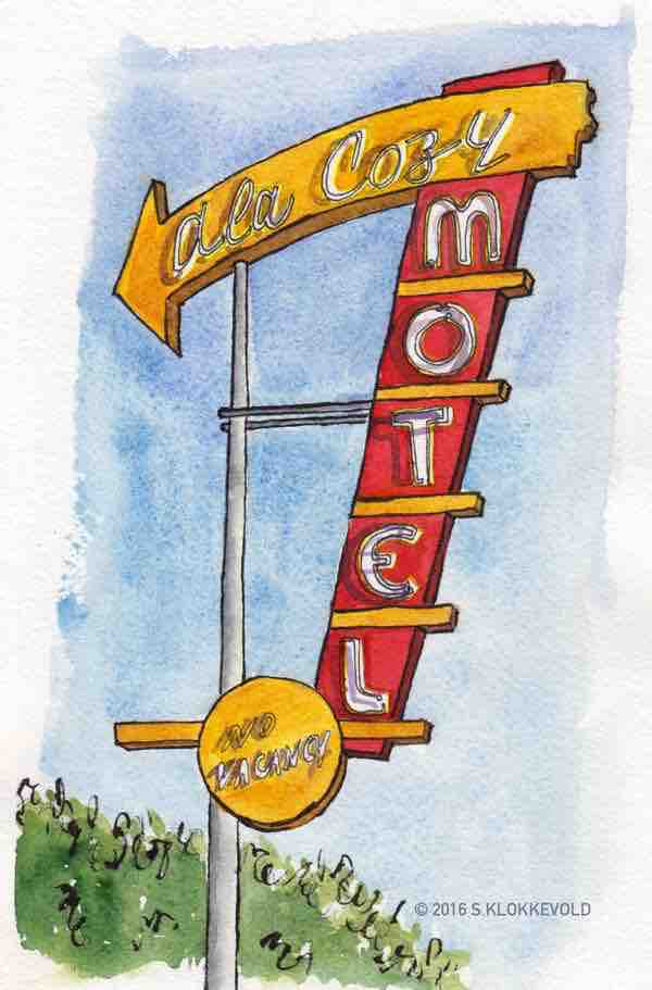 Neon Sign at the Ala Cozy Motel