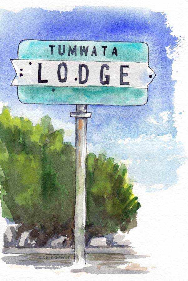 Tumwata Lodge Sign