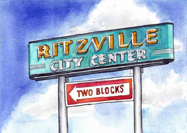 Ritzville City Center Sign