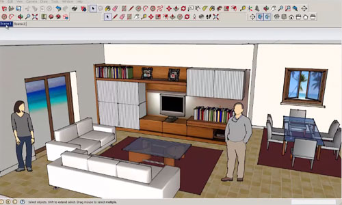 SketchUp Camera Tool – Change the View of your Design
