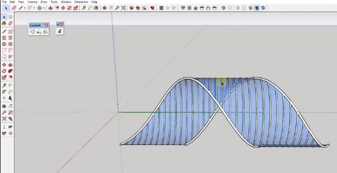 Modeling SketchUp Frame and Skin Structure