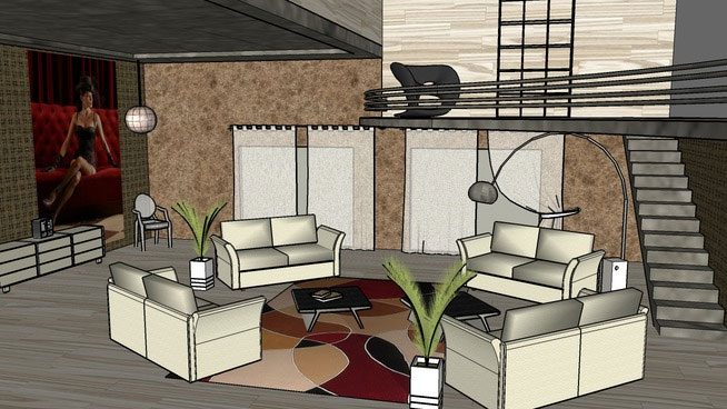 Sketchup Components 3D Warehouse Living Room Sketchup 3D Warehouse Living Room