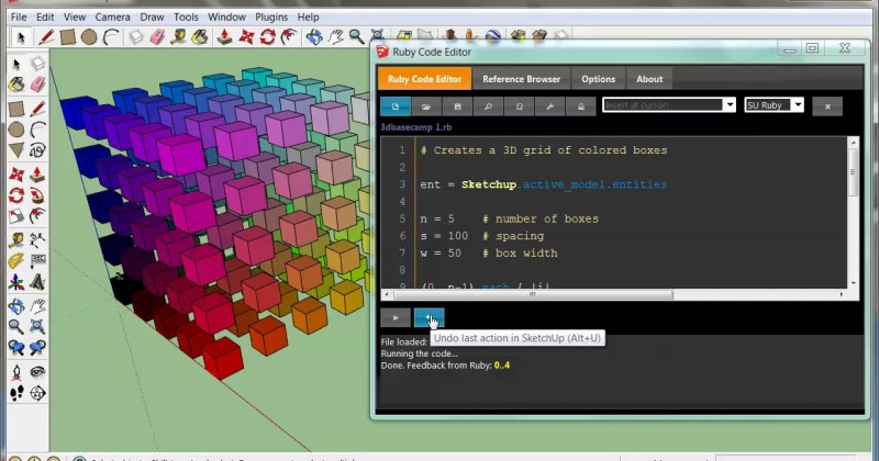 Intro to Coding in SketchUp with the Ruby Code Editor (Video)