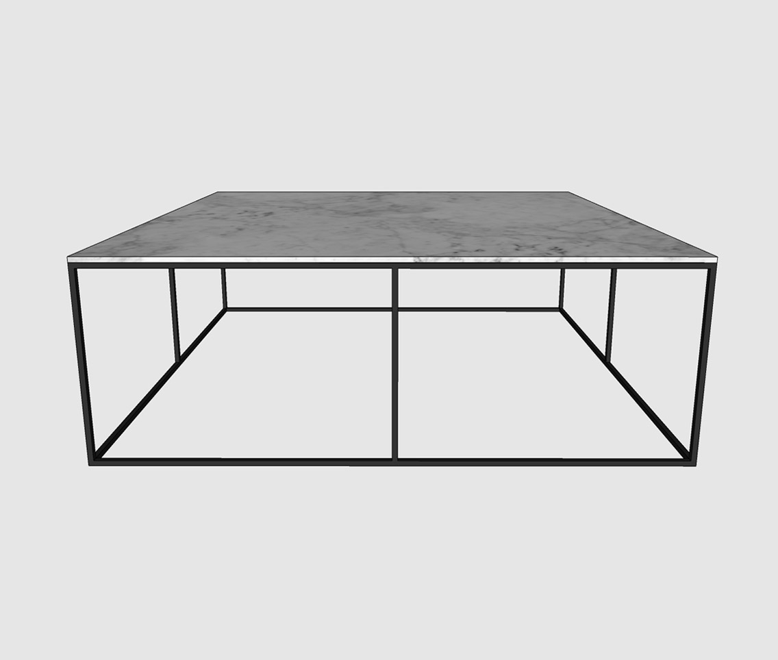 Large Square Marble Coffee Table Sketchup Hub