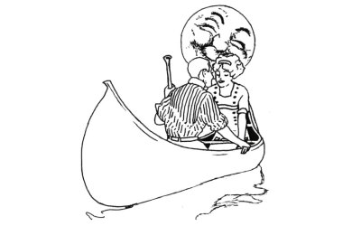 Coloring Monday: Canadian Canoes