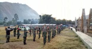 Satgas Yonkes 1 Kostrad Jaga Fisik di Daerah Penugasan