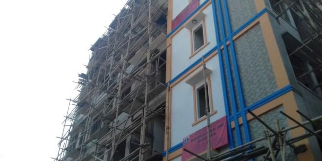 Bangunan 6 Lantai Hasil TSM di Kartini VIII Akhirnya di Bongkar Petugas Gabungan