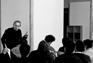 9_ Vito Acconci with students