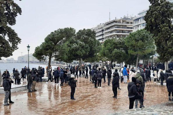 Θεσσαλονίκη: Επεισόδια στη διαδήλωση κατά του lockdown