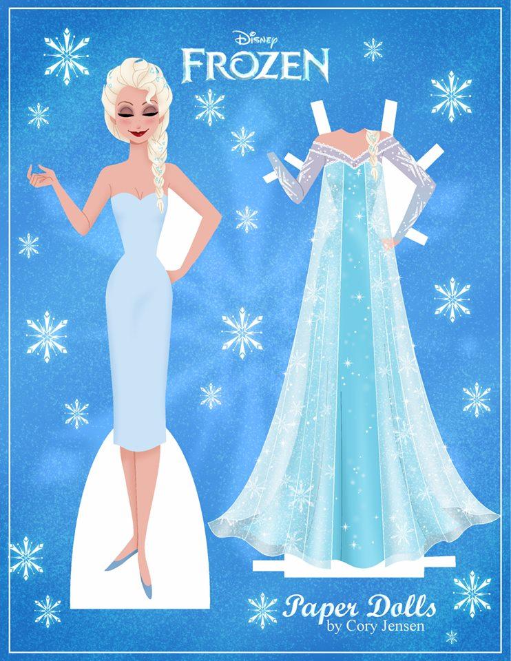Frozen Paper Dolls Cut Out Wwwimgarcadecom Online Image Arcade