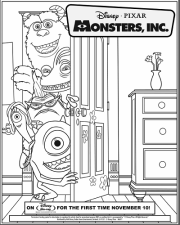 monsters inc door coloring pages - photo#16
