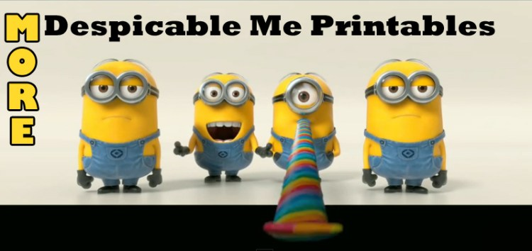 More Despicable Me 2 Printables