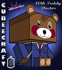 Teddy 10th teddy doctor Doctor Who 3D small