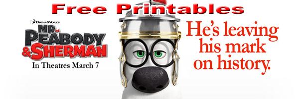 Mr Peabody and Sherman Printables SKGaleana