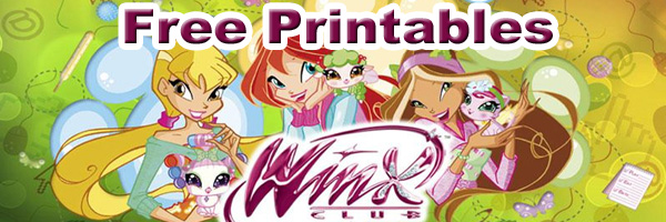 Winx Club Printable Masks Paper Dolls And Coloring Pages