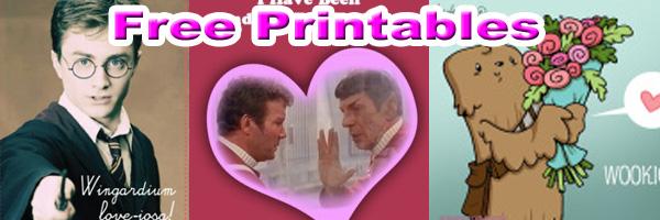 Geeky Valentine's Day Cards SKGaleana