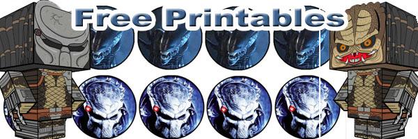Alien and Predator Cubeecraft and Printable SKGaleana
