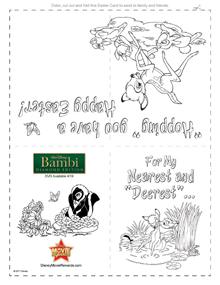 card Easter Card Bambi