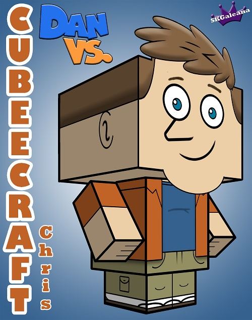 Cubeecraft of Chris from Dan vs 3D bt SKGaleana s
