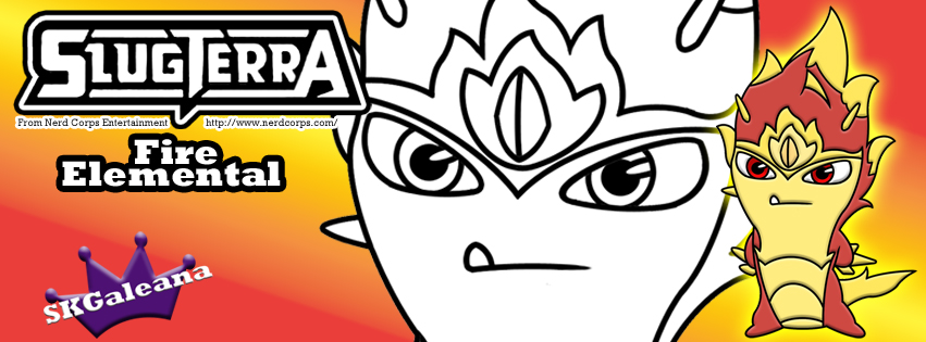 fire elemental skgaleana fire elemental slug coloring page from slugterra the fire elemental slug is