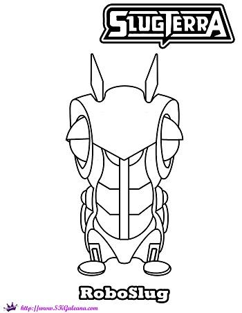 Free Slugterra Printable Coloring Page Of Roboslug