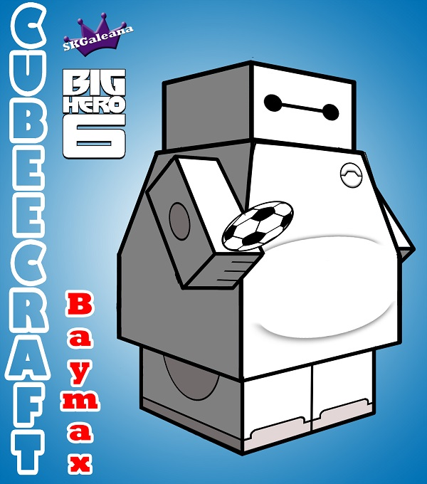 Baymax 3D Cubeecraft by SKGaleana copy