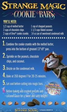 Strange Magic Cookie Bars Recipe SKGaleana