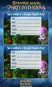 Strange Magic Party Invitations SKGaleana