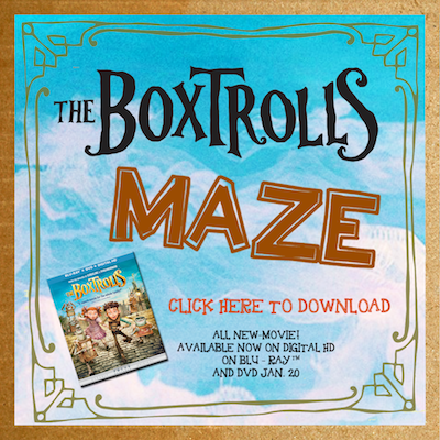 Boxtrolls free printable Coloring Oages SKGaleana