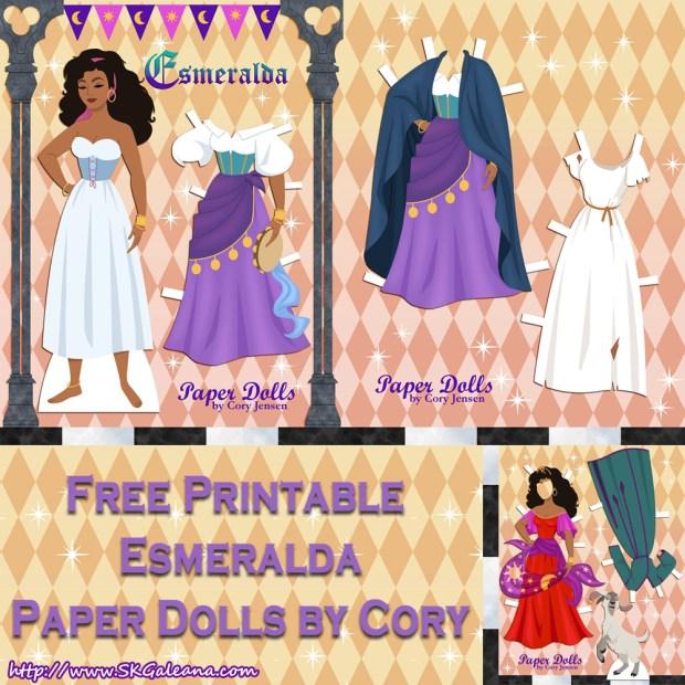 Esmeralda Paper Doll By Cory
