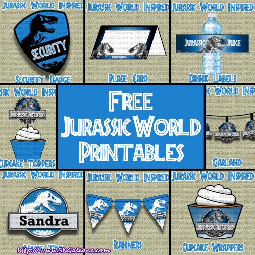 Free Jurassic World Printables by SKGaleana