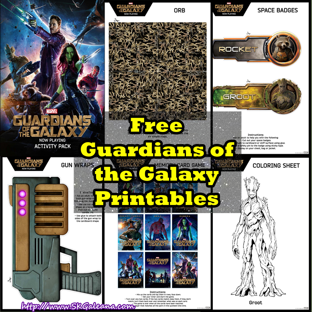 Free Guardian of the Galaxy Printable