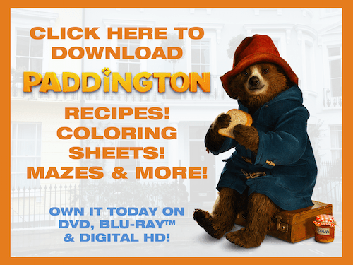 Paddington recipes activities coloring pages