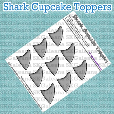 Shark Cupcake Topper Image