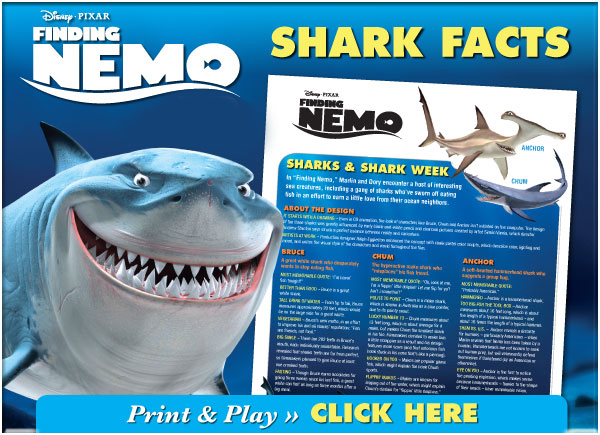 Finding Nemo shark Facts