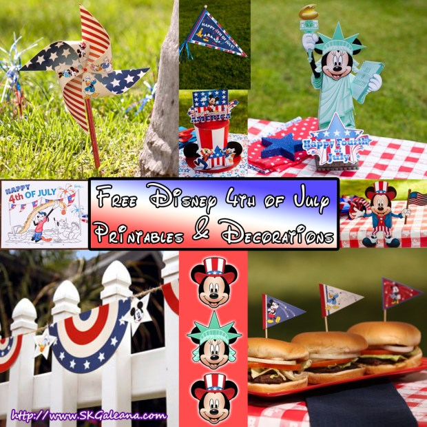 Free Disney 4th of July Printables and Decorations